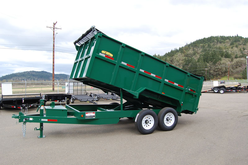4ft Green Dump Trailer